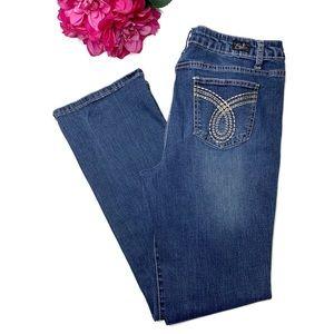 EARL JEANS Medium Slim Boot Cut High Rise Jeans 12